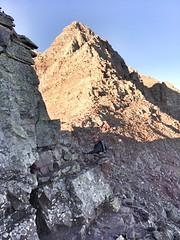 Pyramid Peak summit in full view