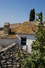 Toiture en pierre à Theologos île de Thassos Gréce