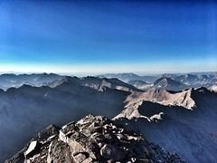 View to the southeast from the summit of Maroon Peak