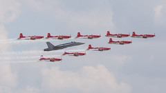 Swiss Air Force F/A-18C Hornet and PC-7 Team RIAT 2018