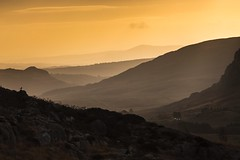 Sunrise in the Ogwen valley