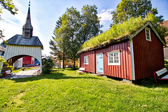 Norwegen - Sortland, Kapelle mit Friedhof