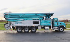 EPC Material Placement concrete pumping truck