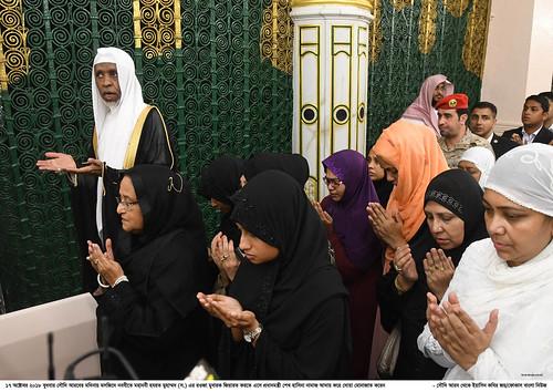 18-10-18-PM_Offered Ziarat of Rawza Mubarak of Prophet Hazrat Muhammad-1
