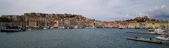 View on the yacht harbor of Portoferraio, Elba