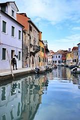 Burano, Venice, Italy #burano #Venice #Italy #blue #river #boat #6dm2 #building #canel #colour