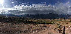 Blick in die Berge in Maras