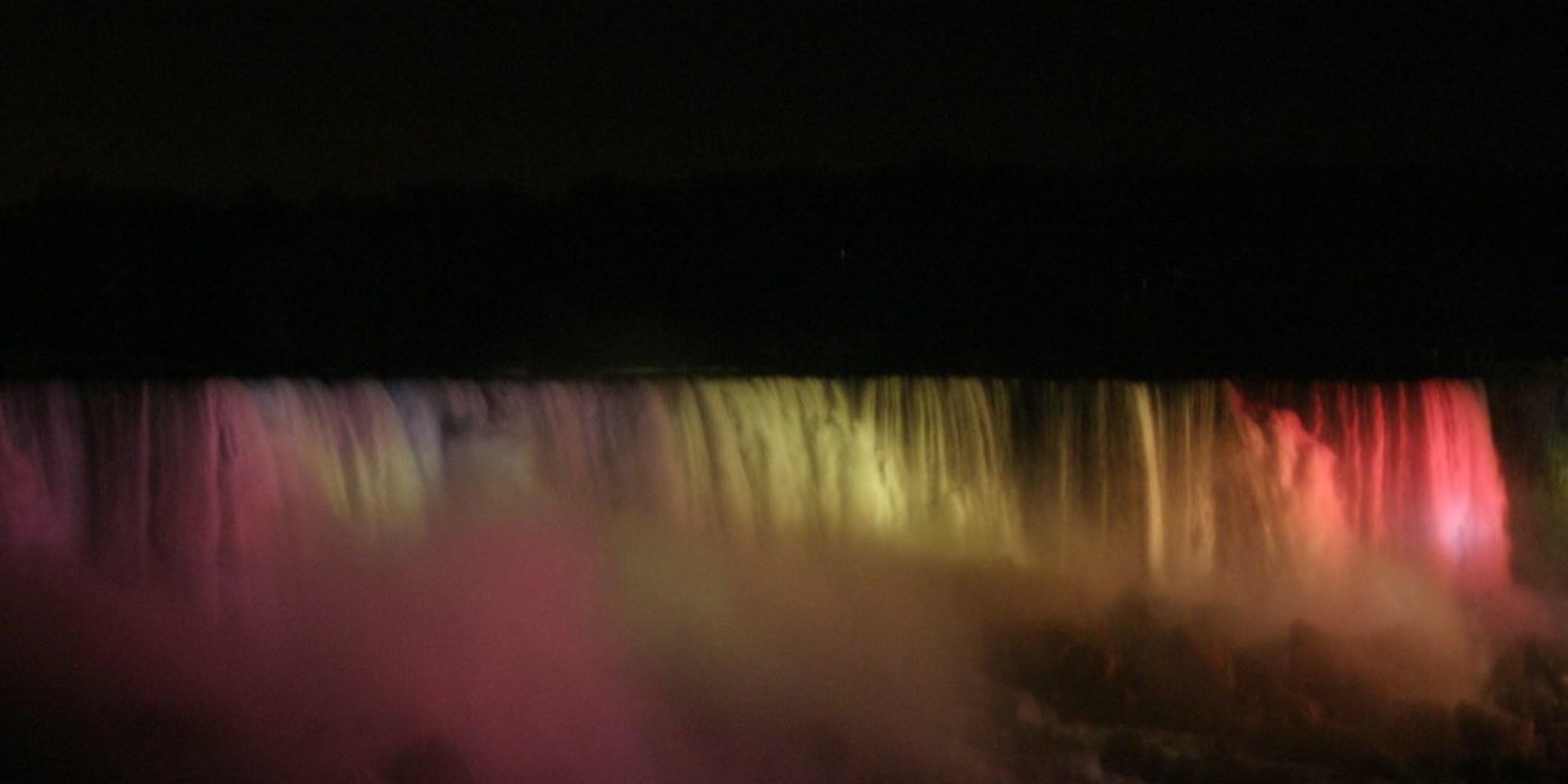 Niagara Ontario - American Falls at Night 5