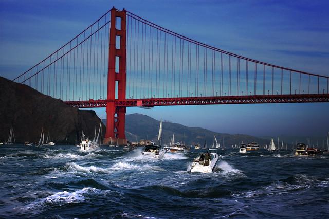 Racing for the bridge