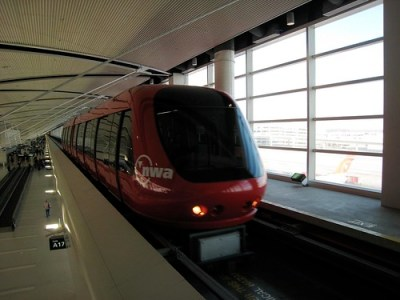 Express tram at Detroit airport