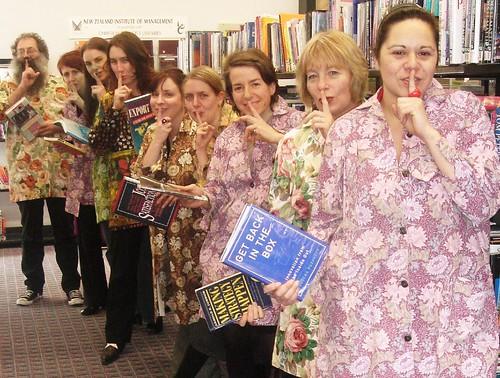 Librarians in smocks - Shush 2.0
