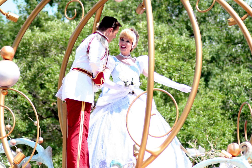 Cinderella and Prince Charming in the Magic Kingdom / Disney World