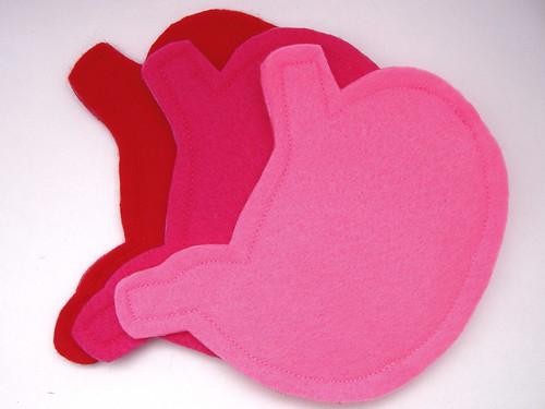 felt stomach id/card holder or coin purse by autumnomatopoeia