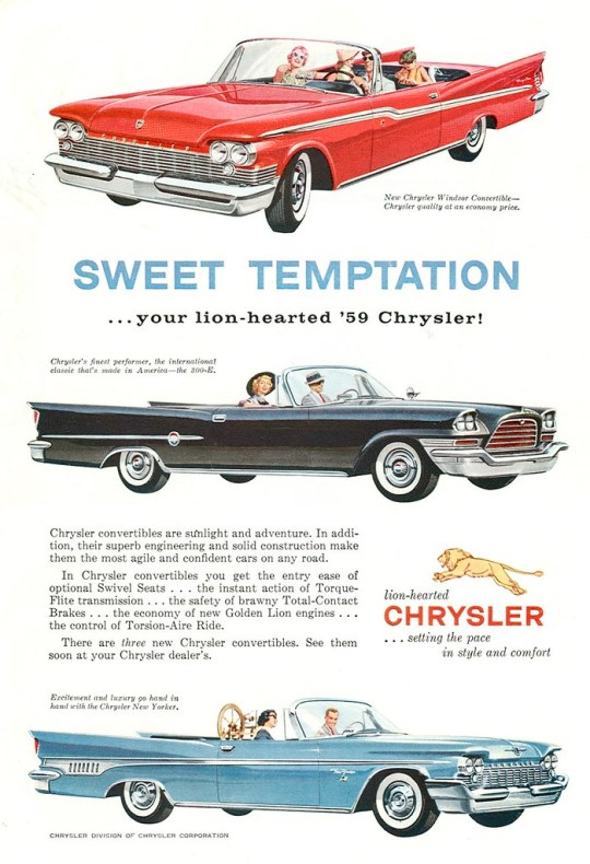 1959 Chrysler convertibles
