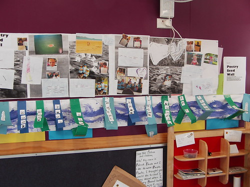 Ripple poetry wall Tully Primary