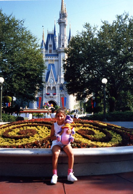 with cinderellas castle, aug '87