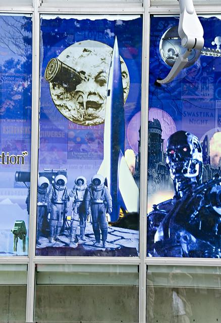 Self Portrait in Sci Fi Museum Window