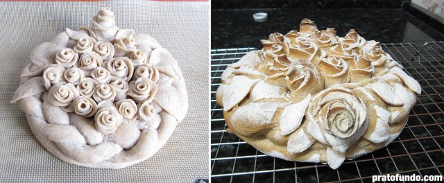 Test Kitchen: Pão decorativo/Artístico com Massa Viva (Decorative Live Dough)