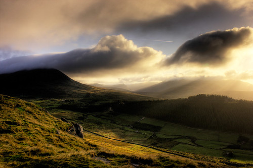 Morning Sunlight, Mourne Mountains, Northern Ireland.