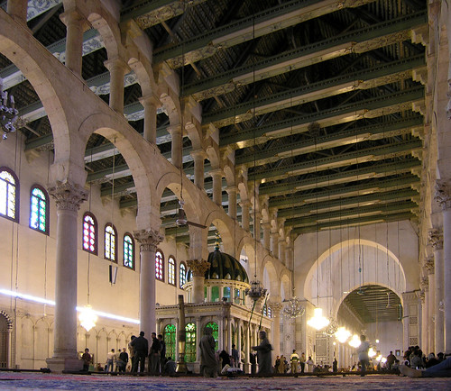 great mosque of damascus 709-15 AD, syria, easter 2004