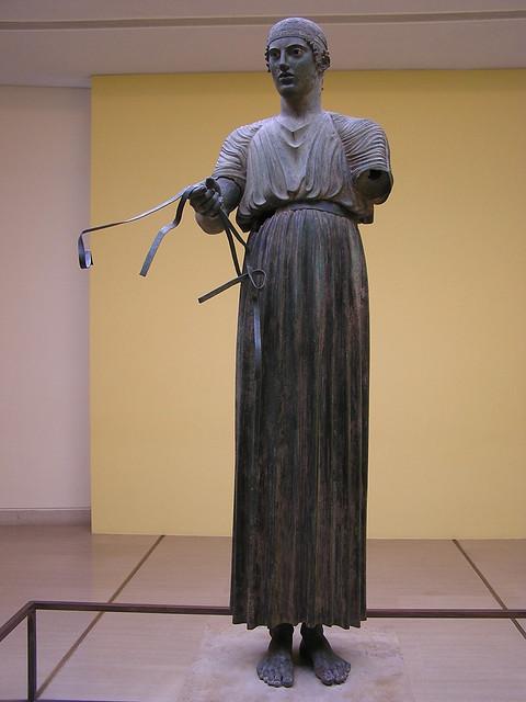 Auriga de Delfos escultura de bronce Museo arqueologico de Delfos Grecia 29