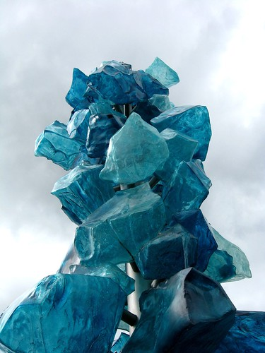 Blue Chihuly art