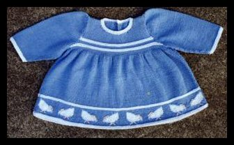Baby Georgia Blue and White Knit Dress