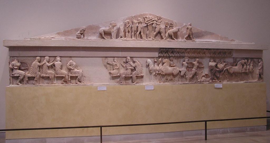 Grecia Museo de Delfos Friso del Tesoro de los Sifnios 08