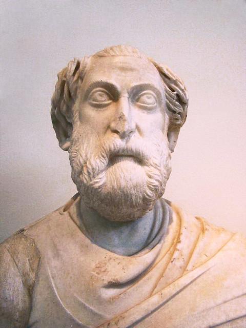 escultura de cabeza y busto de hombre mayor funcionario Museo Nacional Arqueologico Atenas Grecia 219