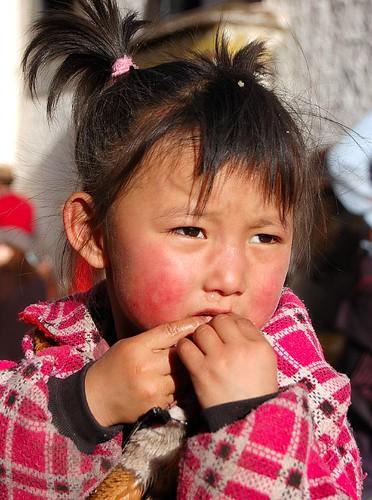 Pink Face Tibetan Girl