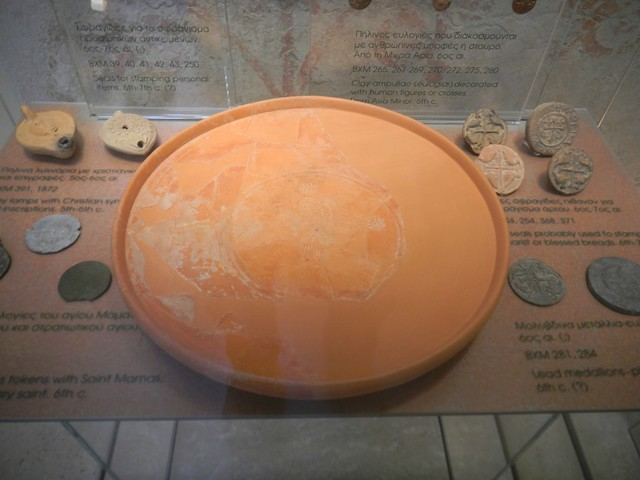African Red Slip, Hayes 104 large dish with depiction of Christ