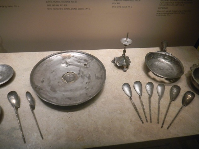 Silverware from the Byzantine and Christian Museum of Athens