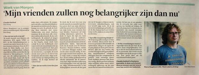 Interview voor Financieele Dagblad