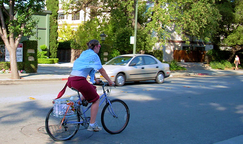 Palo Alto bicycle commuter