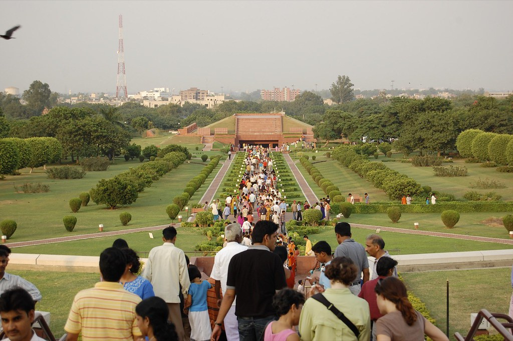 Outside the Lotus Temple