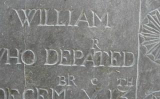 tombstone typo
