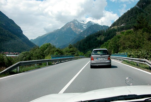 Holiday day 2: in the valley behind a new Mercedes
