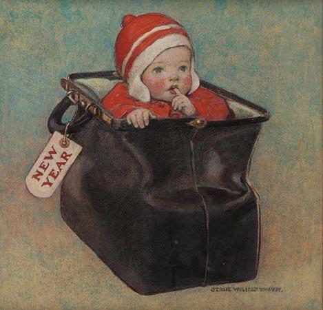 Jessie Willcox Smith, New Year's Baby, c.1910