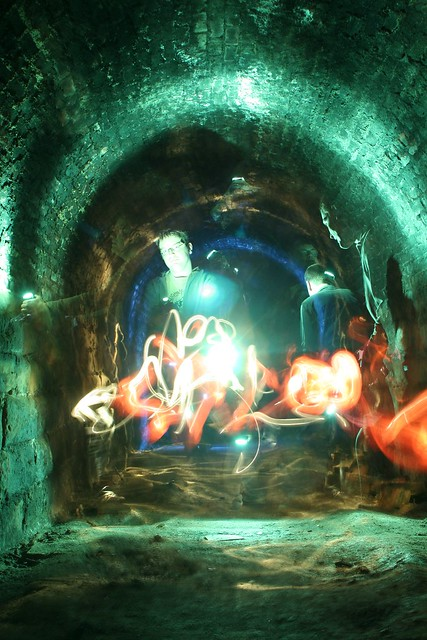 Light Painting in Ridge Lane Tunnel 1