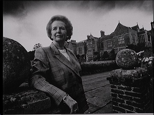 Margaret Thatcher at Chequers