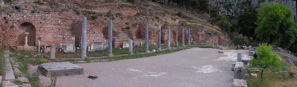 Grecia Oraculo de Delfos Monumento espartano a Egospotamos 04