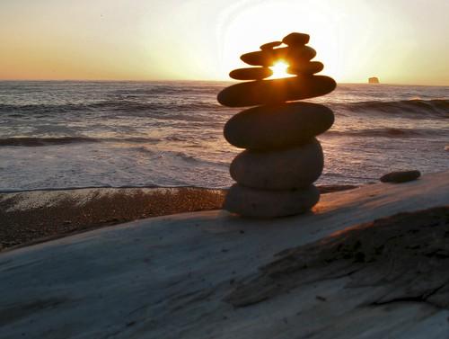 Rialto Beach Pebble Sunset