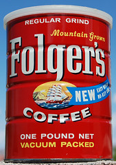 Folger's Coffee No-Key Can, 1960 by Roadsidepictures