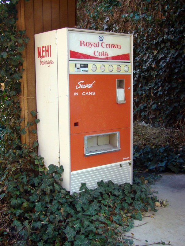 Royal Crown Cola/Nehi vending machine at the Spinning Wheel Motel - Fillmore, Utah U.S.A. - May 13, 2010