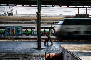 bologna, on the move - italian train station