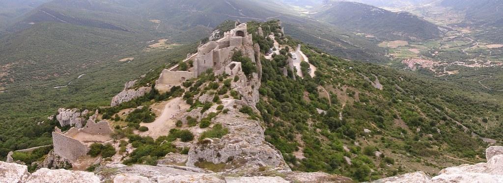 panoramica Castillo cátaro de Peyrepertuse-Francia 15