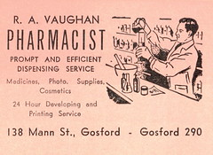 Vaughan pharmacists 1954