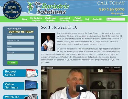 Dr. Stowers - Bariatric Surgeon bio page