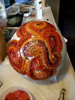 Growing Mosaic Swirls