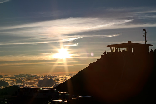 Lookout Tower- Haleakala Volcano Crater Sunrise, Maui